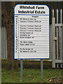 TL2460 : Whitehall Farm Industrial Estate sign by Adrian Cable