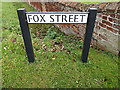 TL2656 : Fox Street sign by Adrian Cable