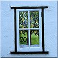 TL3044 : Abington Pigotts: advent calendar window by John Sutton