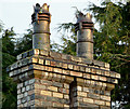 J3774 : Chimney and chimney pots, Sydenham Avenue, Belfast by Albert Bridge