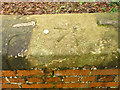 SK6233 : Rivet bench mark, Normanton bridge by Alan Murray-Rust