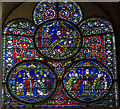 TR1557 : St Dunstan Window (Nt.XI), Canterbury Cathedral by Julian P Guffogg