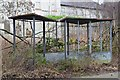 NT0270 : Derelict bus shelter, Bangour Village Hospital by Jim Barton