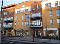 TQ1884 : New block of shops on Ealing Road, Alperton by David Howard