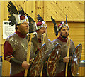 HP6008 : Members of the Uyeasound Up Helly Aa squad at Baltasound JHS by Mike Pennington