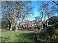 NZ2465 : Gardens beside Brandling Park by David Martin