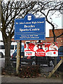 TM4189 : Beccles Sports Centre sign by Adrian Cable
