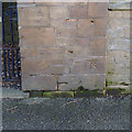SK5539 : Bench mark, former Sandfield School by Alan Murray-Rust