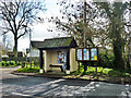 SP6308 : Bus shelter and noticeboards, Worminghall by Robin Webster