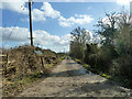 SP6409 : Road to sewage works by Robin Webster