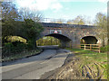 SP7427 : Bridge OXD 24 over road and brook by Robin Webster