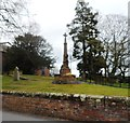 SJ7769 : War Memorial - Goostrey Churchyard by Anthony Parkes