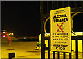 J5082 : 'Alcohol Free Area' sign, Bangor by Rossographer