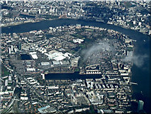 TQ3678 : Rotherhithe from the air by Thomas Nugent