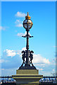 TQ2987 : Lamp standard, Archway Bridge by Julian Osley