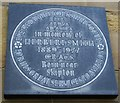 Photo of Herbert Smith black plaque