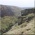 SE0531 : Sandstone outcrop above Ogden Clough by Gordon Hatton