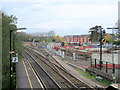SO9669 : Construction Work on New Bromsgrove Station From Footbridge by Roy Hughes