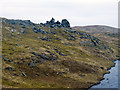 HU5071 : The Stones of Stofast above Loch Stofast by Dr Julian Paren
