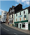 SO7745 : Shoe shop and tea rooms in Church Street, Malvern by Jaggery