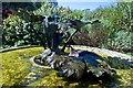 SW7627 : Gunnera Manicata blonze sculpture Trebah Gardens Helford river by Peter Skynner