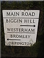 TQ4160 : Council issued direction sign on Main Road, Biggin Hill by David Howard