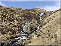 NO0677 : Waterfalls on the Allt Easgaidh by William Starkey