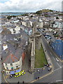 SH4762 : Caernarfon: along the town walls from the castle by Chris Downer
