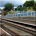 SO5175 : V-shaped ramp at Ludlow railway station by Jaggery