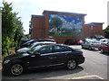 SZ0796 : Kinson: car park behind The Hub by Chris Downer