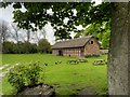 SJ7581 : Cruck Barn at Tatton Old Hall by David Dixon
