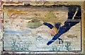TM3185 : RAF Bungay (USAAF Station 125) - Aero Club mural (2) by Evelyn Simak