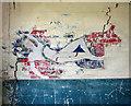 TM3185 : RAF Bungay (USAAF Station 125) - Aero Club mural (5) by Evelyn Simak