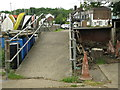 TQ7671 : Footpath Ramp over the Sea Wall by Tony Hunt