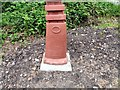SJ9594 : Sustrans Signpost at Swain's Valley (Bottom detail) by Gerald England