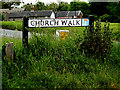 TL8646 : Church Walk sign by Adrian Cable