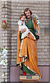 SP0884 : St Agatha, Sparkbrook - Statue by John Salmon