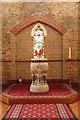 TQ5277 : St Augustine of Canterbury, Slade Green - Font by John Salmon