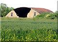 TG1014 : Ex-RAF blister hangar near Green Farm by Evelyn Simak