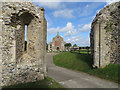 TF9839 : Binham Priory gatehouse by Pauline E