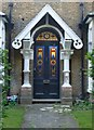 TQ1777 : House entrance, The Butts Estate, Brentford by Stefan Czapski