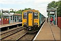 Dist:0.1km<br/>The train arrives with a service from Bidston to Wrexham.