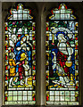 TQ6821 : Stained glass window, St Thomas Becket church, Brightling by Julian P Guffogg