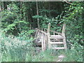 SE2705 : Footbridge over Ellhirst Beck at Whin Moor Plantation by John Slater