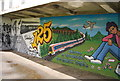 TQ5940 : Mural, Grosvenor Recreation Ground by N Chadwick