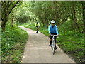 SE2002 : Cyclists on the Trans Pennine Trail by Graham Hogg