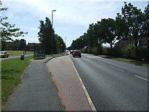 SJ9146 : Bus stop on Dividy Road (A5272) by JThomas