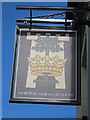TQ6404 : The Royal Oak & Castle Inn sign by Oast House Archive