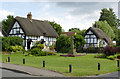 SU6396 : Houses on the green, Chalgrove by Alan Murray-Rust
