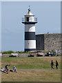 SZ6498 : Southsea Castle Lighthouse by Oliver Dixon